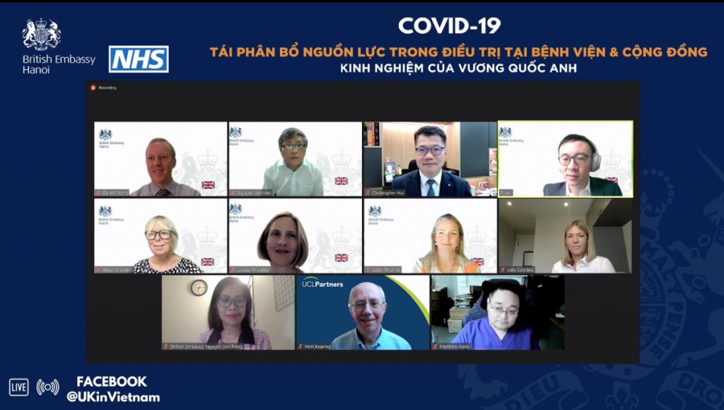 Việt Nam và Anh trao đổi kinh nghiệm về tái phân bổ nguồn lực trong điều trị COVID-19