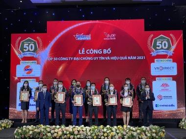 Công bố Top 50 công ty đại chúng uy tín và Top 10 ngành ngân hàng - bảo hiểm - công nghệ năm 2021