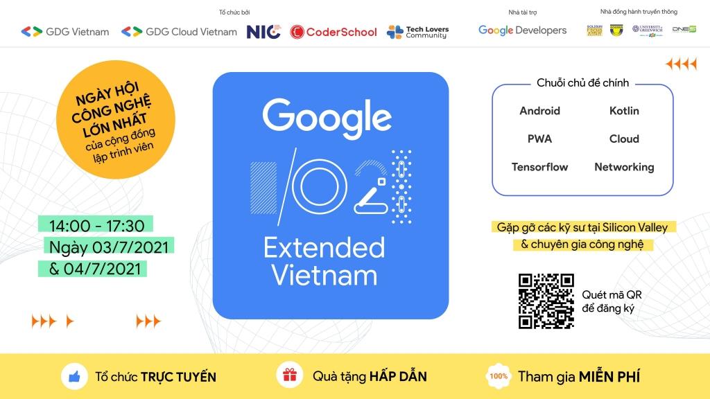 Google I/O Extended Vietnam 2021 – Điểm hẹn của các lập trình viên