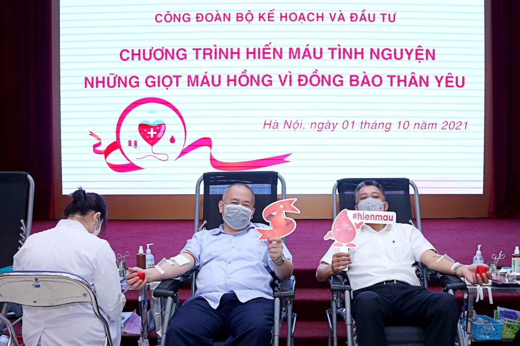 Bộ Kế hoạch và Đầu tư tổ chức ngày hội hiến máu năm 2021