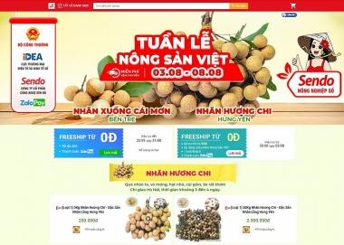 Nhãn lồng Hưng Yên được bán trên sàn thương mại điện tử Sendo