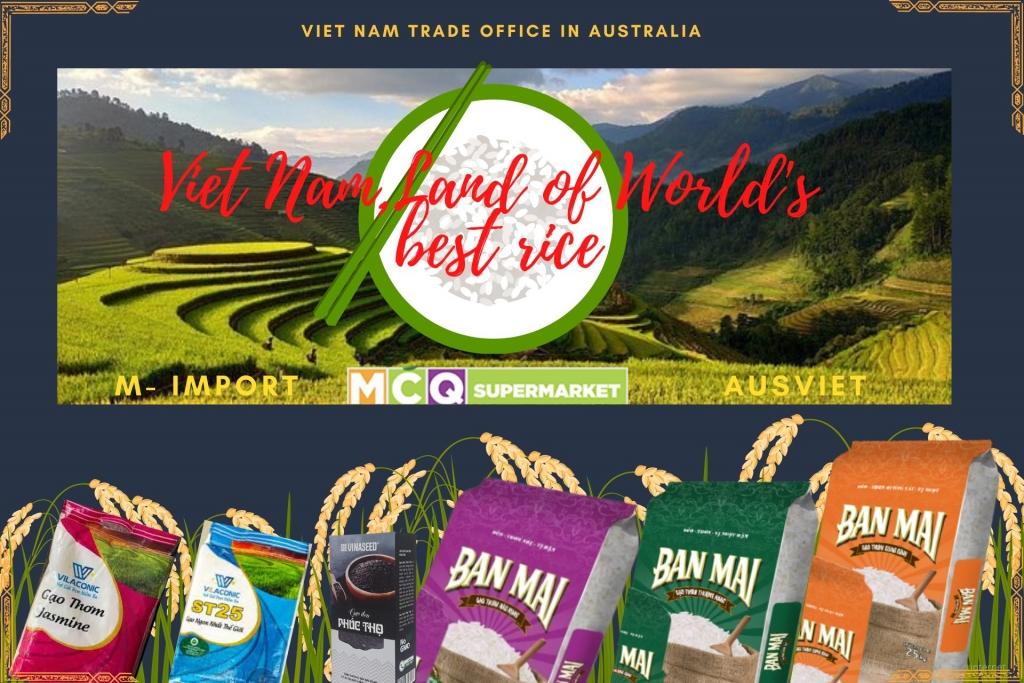 Hơn 10.000 người tiêu dùng Úc sẽ được mời dùng thử gạo Việt Nam